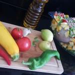 Poulet aux légumes du panier